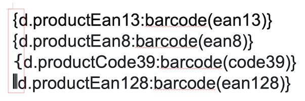 Barcode format